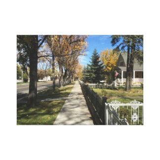 fall street view canvas print