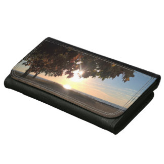 Fall Sunrise At The Lake Women's Wallets