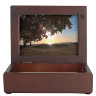 Fall Sunset At The Lake Keepsake Box