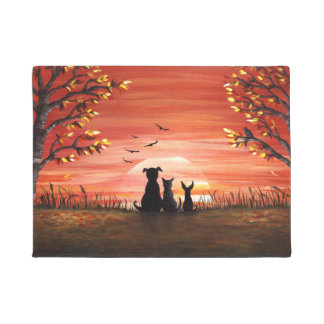 Fall Sunset Doormat