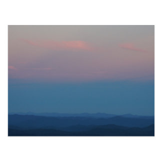 Fall Sunset in the Blue Ridge Mountains Postcard