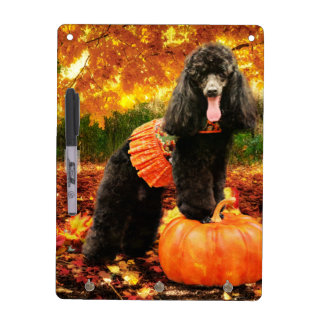 Fall Thanksgiving - Gidget - Poodle Dry Erase Board