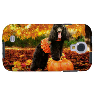 Fall Thanksgiving - Gidget - Poodle Galaxy S4 Case