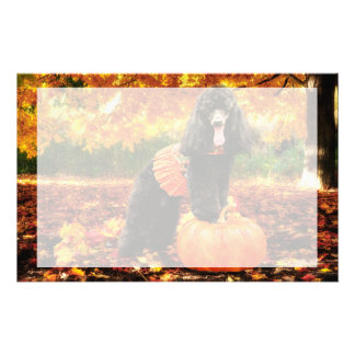 Fall Thanksgiving - Gidget - Poodle Stationery
