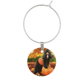Fall Thanksgiving - Gidget - Poodle Wine Charms