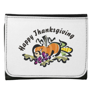 Fall Thanksgiving Harvest Tri-fold Wallet