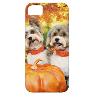 Fall Thanksgiving - Max & Leo - Yorkies Barely There iPhone 5 Case