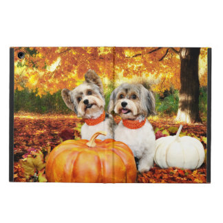 Fall Thanksgiving - Max & Leo - Yorkies Cover For iPad Air