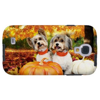 Fall Thanksgiving - Max & Leo - Yorkies Galaxy S4 Case