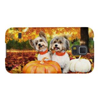 Fall Thanksgiving - Max & Leo - Yorkies Galaxy S5 Cover