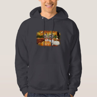 Fall Thanksgiving - Max & Leo - Yorkies Hoodie