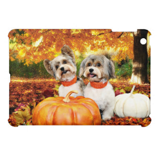 Fall Thanksgiving - Max & Leo - Yorkies iPad Mini Cover