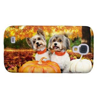 Fall Thanksgiving - Max & Leo - Yorkies Samsung Galaxy S4 Covers