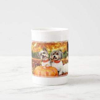 Fall Thanksgiving - Max & Leo - Yorkies Tea Cup