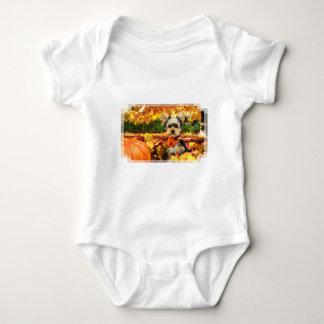 Fall Thanksgiving - Max - Yorkie Baby Bodysuit