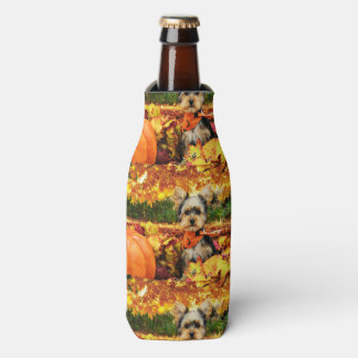 Fall Thanksgiving - Max - Yorkie Bottle Cooler