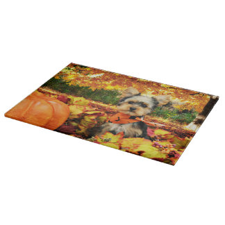 Fall Thanksgiving - Max - Yorkie Cutting Board