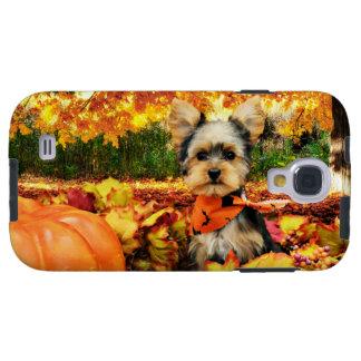 Fall Thanksgiving - Max - Yorkie Galaxy S4 Case