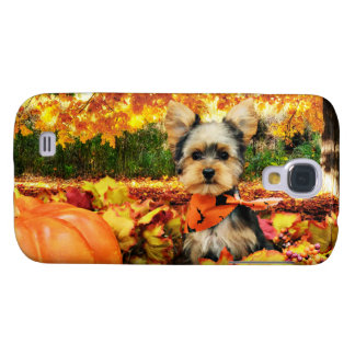 Fall Thanksgiving - Max - Yorkie Galaxy S4 Case