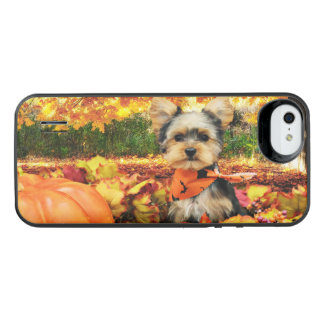 Fall Thanksgiving - Max - Yorkie iPhone SE/5/5s Battery Case