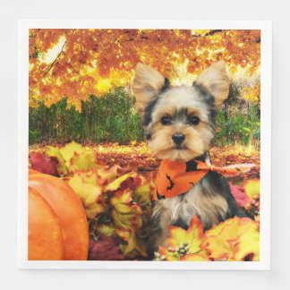Fall Thanksgiving - Max - Yorkie Paper Serviettes