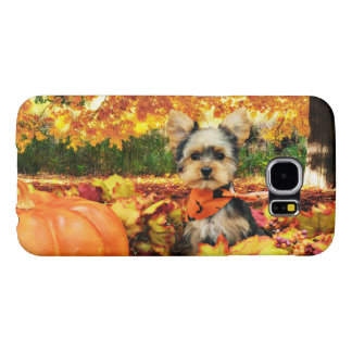 Fall Thanksgiving - Max - Yorkie Samsung Galaxy S6 Cases