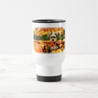 Fall Thanksgiving - Max - Yorkie Travel Mug