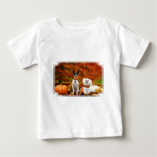Fall Thanksgiving - Monty Fox Terrier & Milly Malt Baby T-Shirt