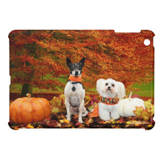 Fall Thanksgiving - Monty Fox Terrier & Milly Malt Case For The iPad Mini