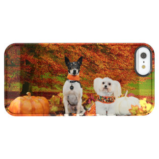 Fall Thanksgiving - Monty Fox Terrier & Milly Malt Clear iPhone SE/5/5s Case