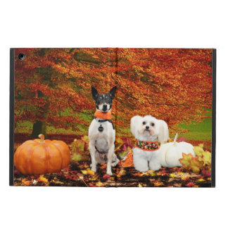Fall Thanksgiving - Monty Fox Terrier & Milly Malt Cover For iPad Air