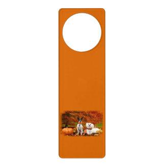 Fall Thanksgiving - Monty Fox Terrier & Milly Malt Door Hanger