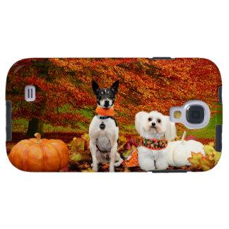 Fall Thanksgiving - Monty Fox Terrier & Milly Malt Galaxy S4 Case