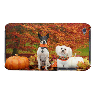 Fall Thanksgiving - Monty Fox Terrier & Milly Malt iPod Touch Case-Mate Case