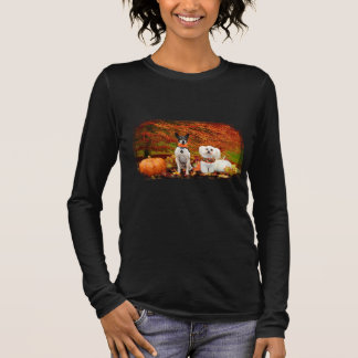 Fall Thanksgiving - Monty Fox Terrier & Milly Malt Long Sleeve T-Shirt