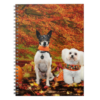 Fall Thanksgiving - Monty Fox Terrier & Milly Malt Notebooks