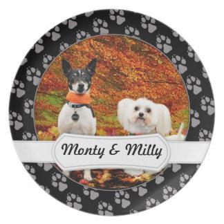 Fall Thanksgiving - Monty Fox Terrier & Milly Malt Plate