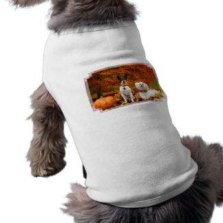 Fall Thanksgiving - Monty Fox Terrier & Milly Malt Sleeveless Dog Shirt