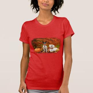 Fall Thanksgiving - Monty Fox Terrier & Milly Malt T-Shirt