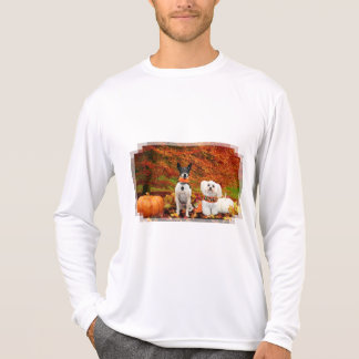 Fall Thanksgiving - Monty Fox Terrier & Milly Malt T-Shirt
