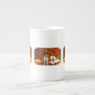Fall Thanksgiving - Monty Fox Terrier & Milly Malt Tea Cup