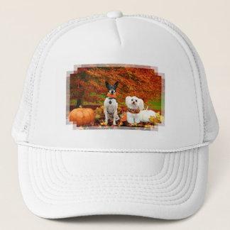 Fall Thanksgiving - Monty Fox Terrier & Milly Malt Trucker Hat