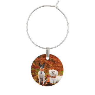 Fall Thanksgiving - Monty Fox Terrier & Milly Malt Wine Charm