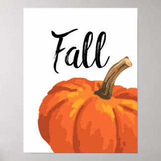 Fall - Thanksgiving - Pumpkin Poster