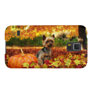 Fall Thanksgiving - Tucker - Yorkie Cases For Galaxy S5