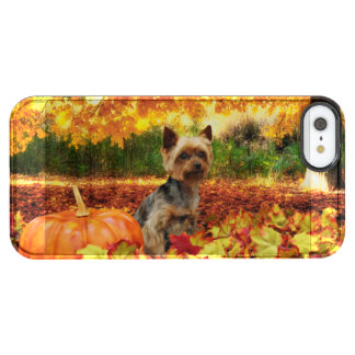 Fall Thanksgiving - Tucker - Yorkie Clear iPhone SE/5/5s Case