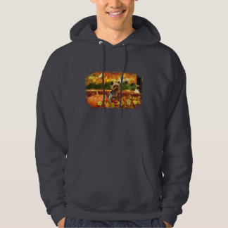 Fall Thanksgiving - Tucker - Yorkie Hoodie