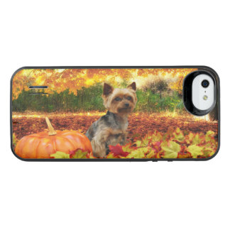 Fall Thanksgiving - Tucker - Yorkie iPhone SE/5/5s Battery Case