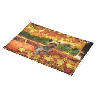 Fall Thanksgiving - Tucker - Yorkie Placemat