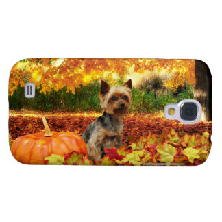 Fall Thanksgiving - Tucker - Yorkie Samsung Galaxy S4 Covers
